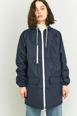 BDG Oversized Fisherman Navy Anorak Navy