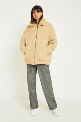 Light Before Dark - Light Before Dark Teddy Zip-Through Coat, Cream