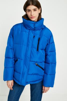 Light Before Dark - Light Before Dark Belted Puffer Ski Jacket, Blue