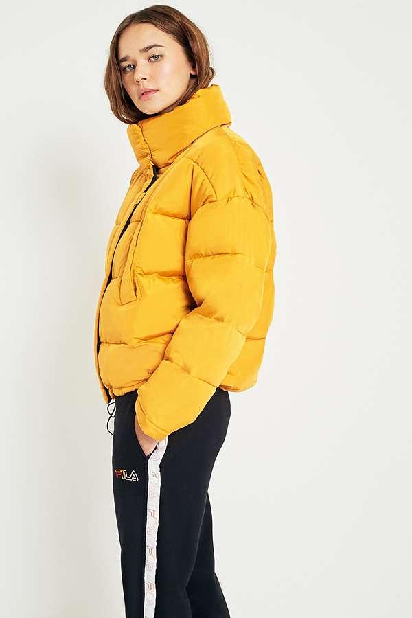 Light Before Dark Yellow Pillow Puffer Jacket Urban