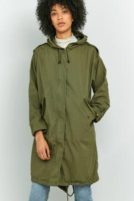 BDG Casual Olive Green Parka Khaki