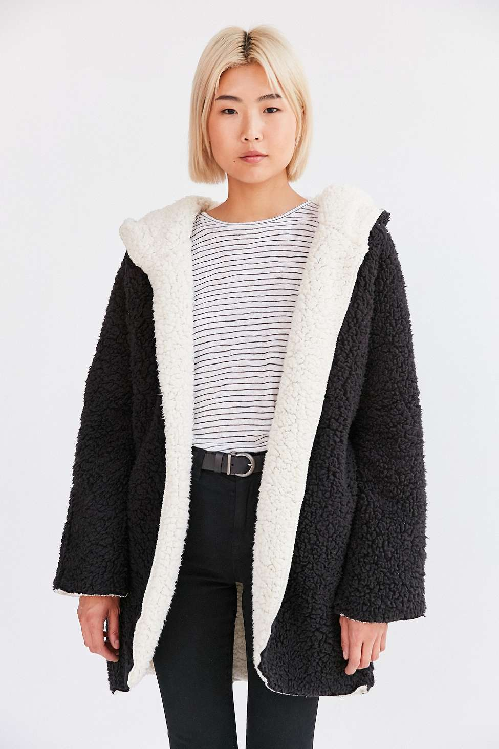 Image result for fluffy jacket urban outfitters