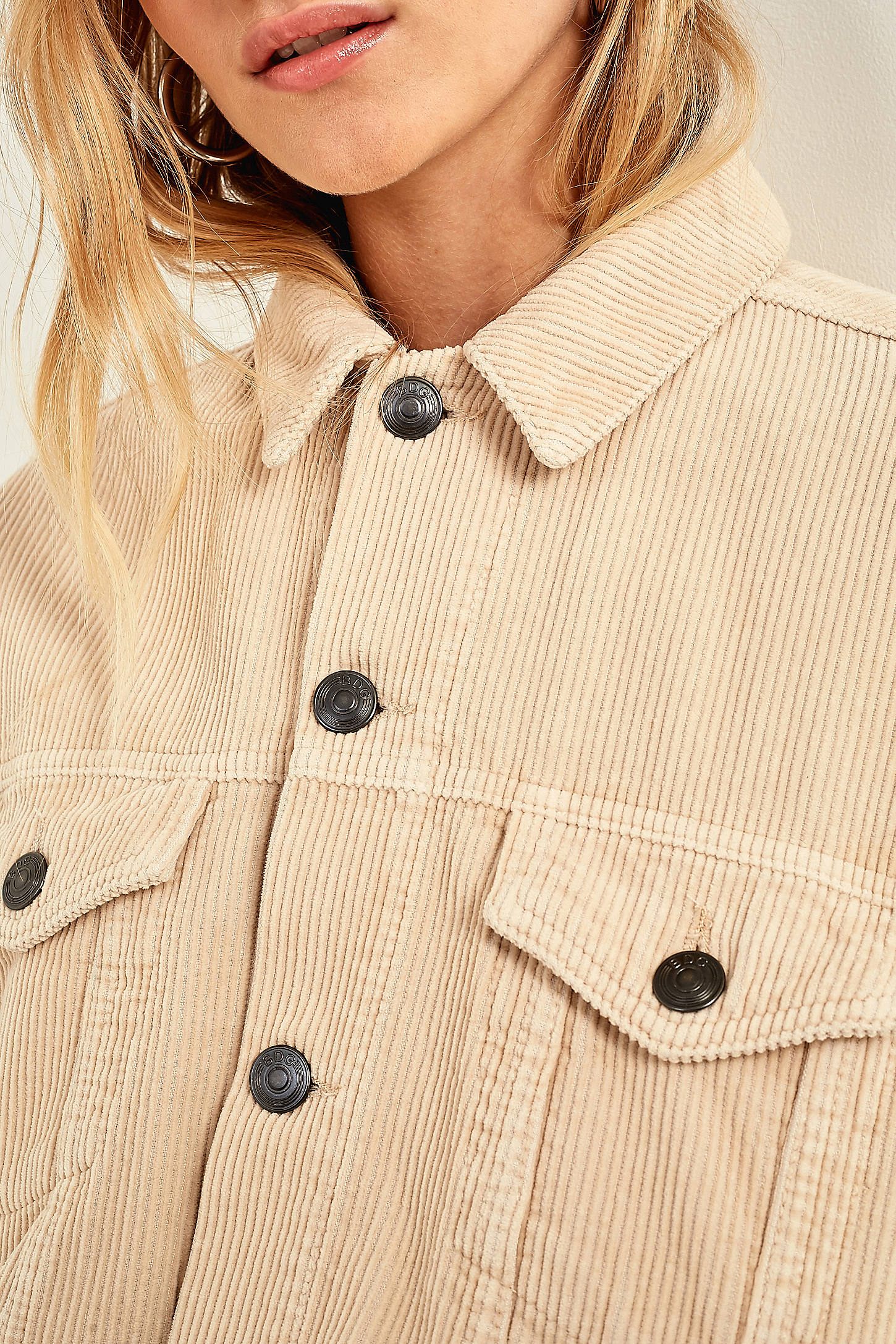 bdg cream corduroy jacket urban outfitters