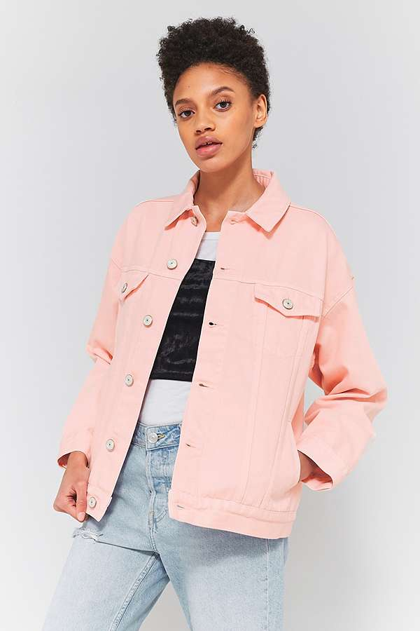 BDG Pink Oversized Denim Jacket | Urban Outfitters