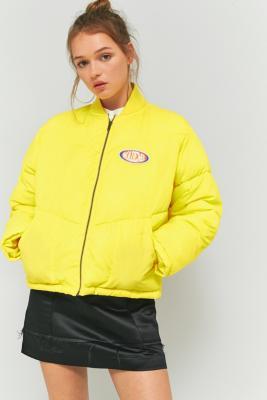 Mademe Yellow Puffy Bomber Jacket Urban Outfitters Uk