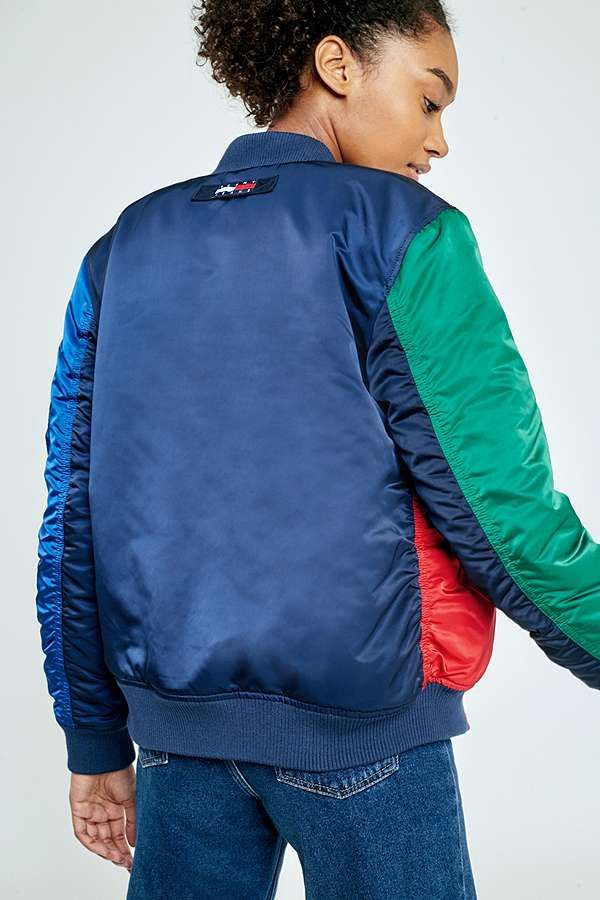 Tommy Jeans '90s Reversible Colour-Blocked Bomber Jacket | Urban ...