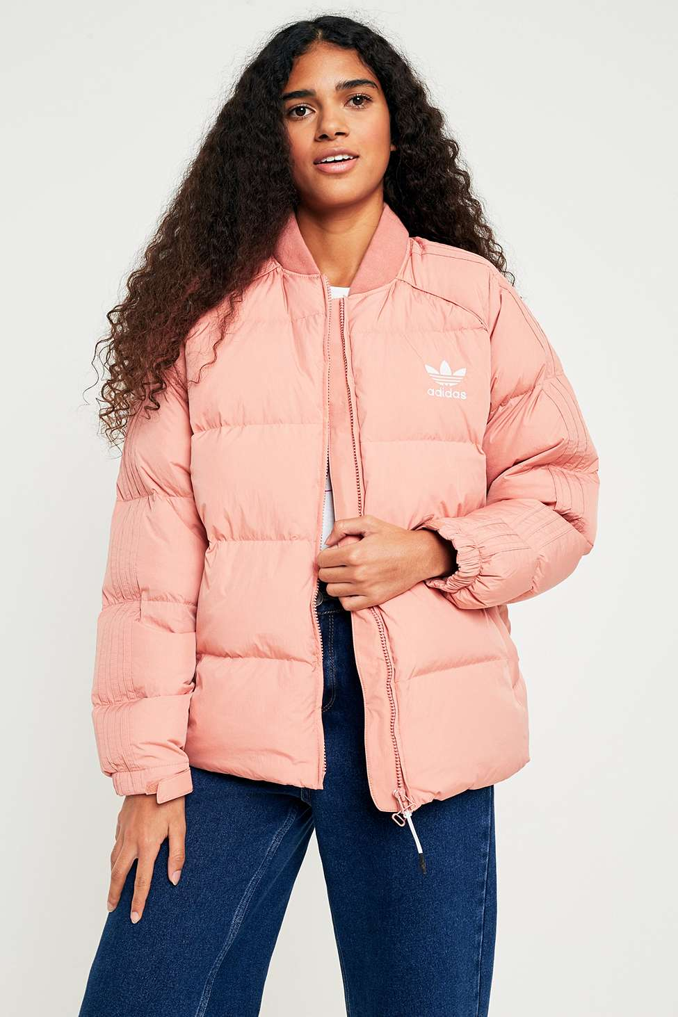 adidas Originals SST Pink Down Jacket | Urban Outfitters