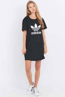 adidas Originals Black Trefoil Tshirt Dress Black