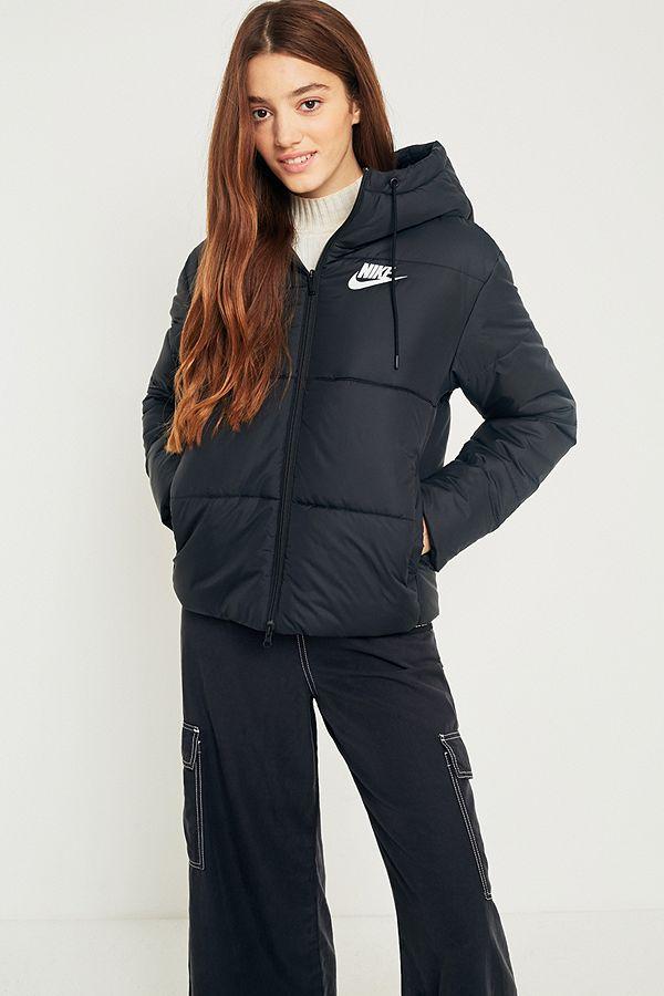 Nike Black Quilted Puffer Jacket  edb1249ed