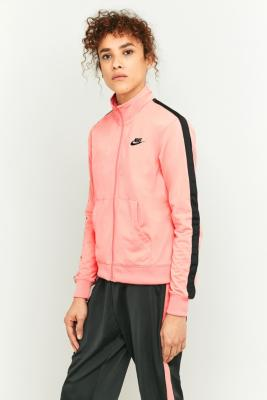 Nike Pink and Black Tracksuit Top Pink