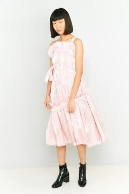 Angel Chen Gathering Dress PINK
