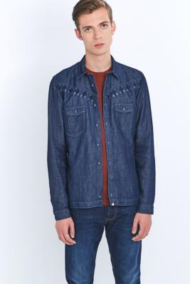 Pretty Green Naunton Navy Shirt, NAVY
