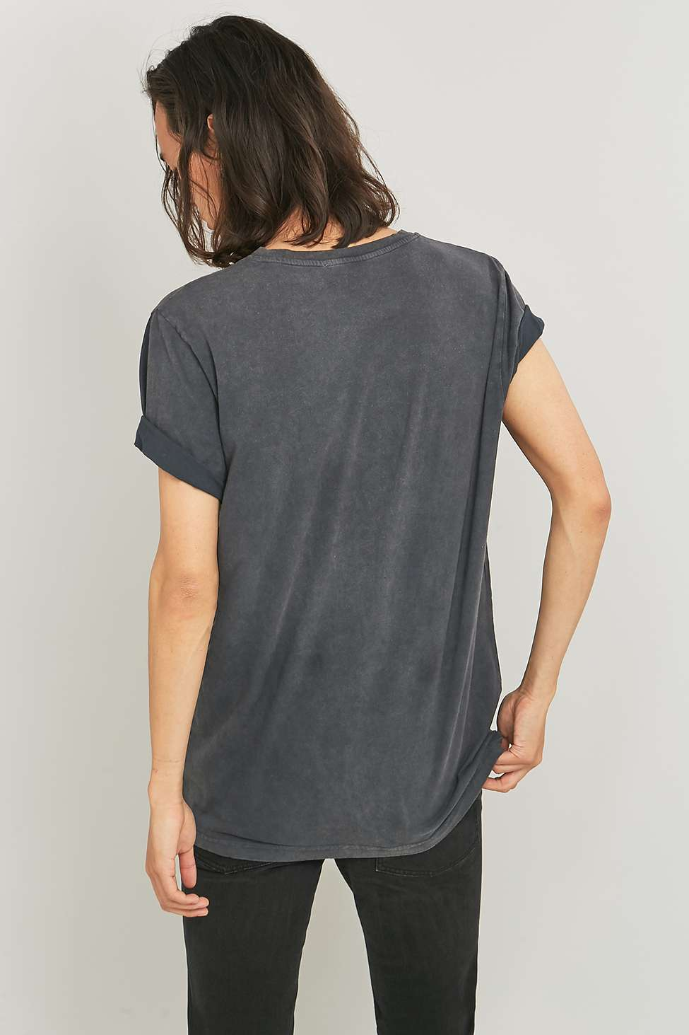 Led Zeppelin Washed Black T-shirt | Urban Outfitters