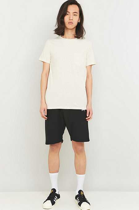 Commodity Stock Ecru Basic One-Pocket T-shirt