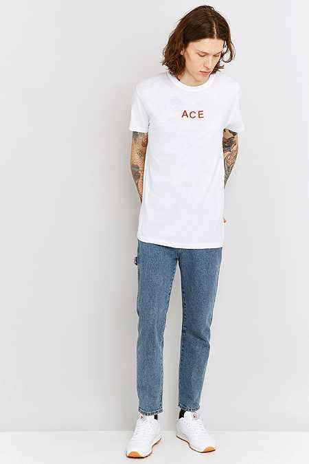 Rolla's - T-shirt imprimé floqué Ace blanc