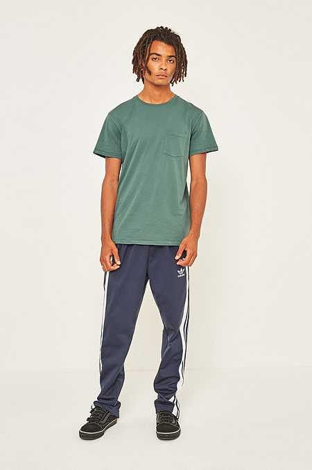 UO Pigment Dyed Green Pocket T-shirt