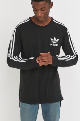 adidas Adicolor Black Long Sleeve Tshirt BLACK