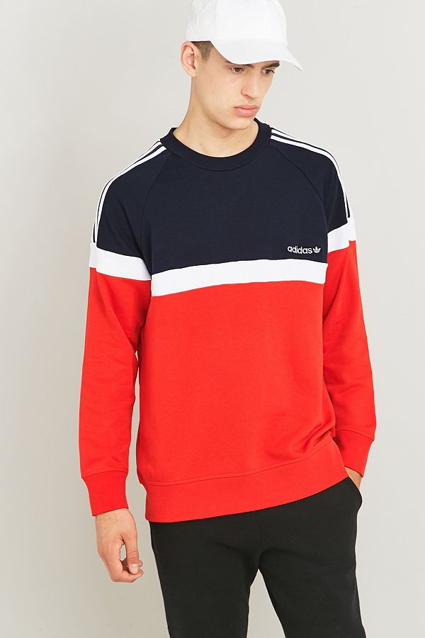 Originals Urban Adidas Itasca Rouge Ras Du Cou Vif Sweat RqUqd84