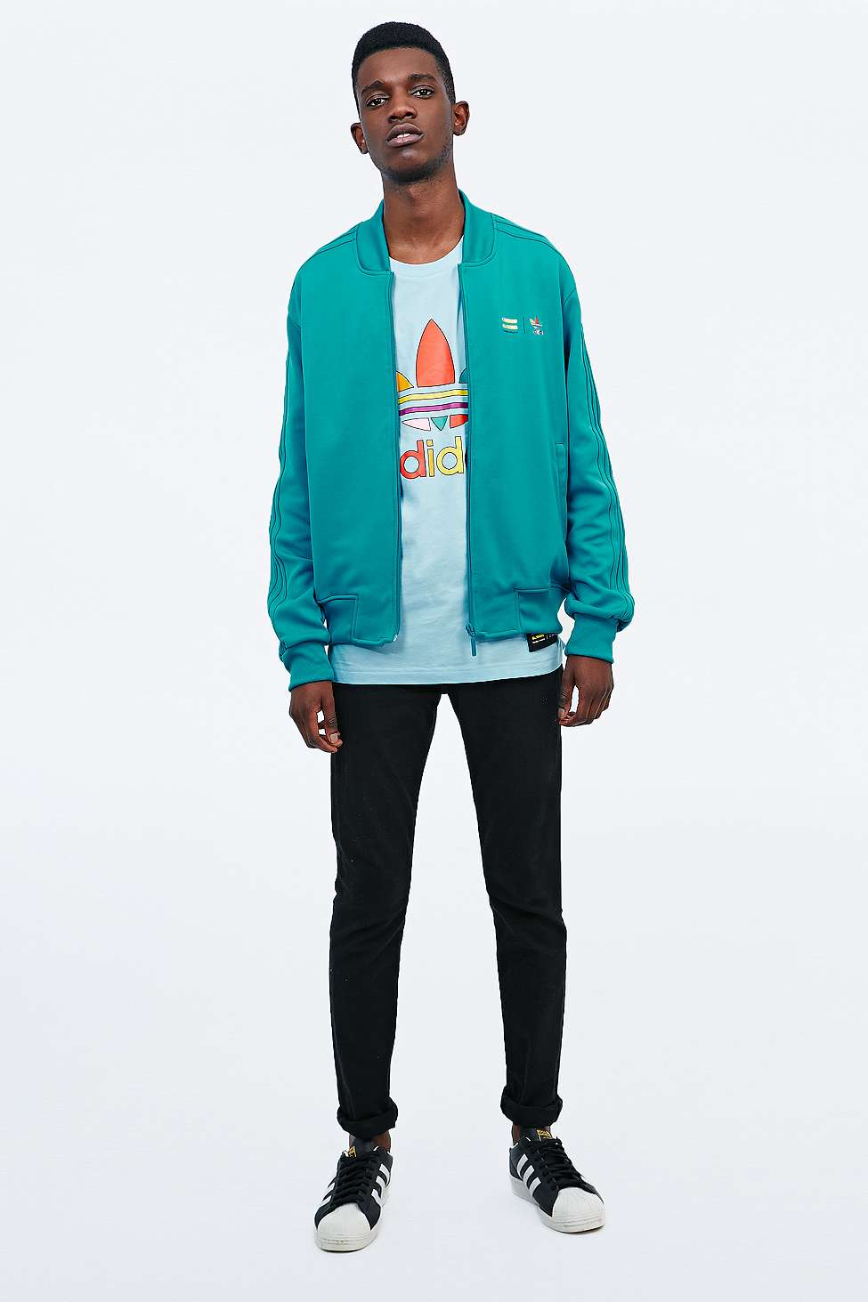 Adidas Originals x Pharrell en Supercolor Track Jacket en Pharrell turquesa 8062ca
