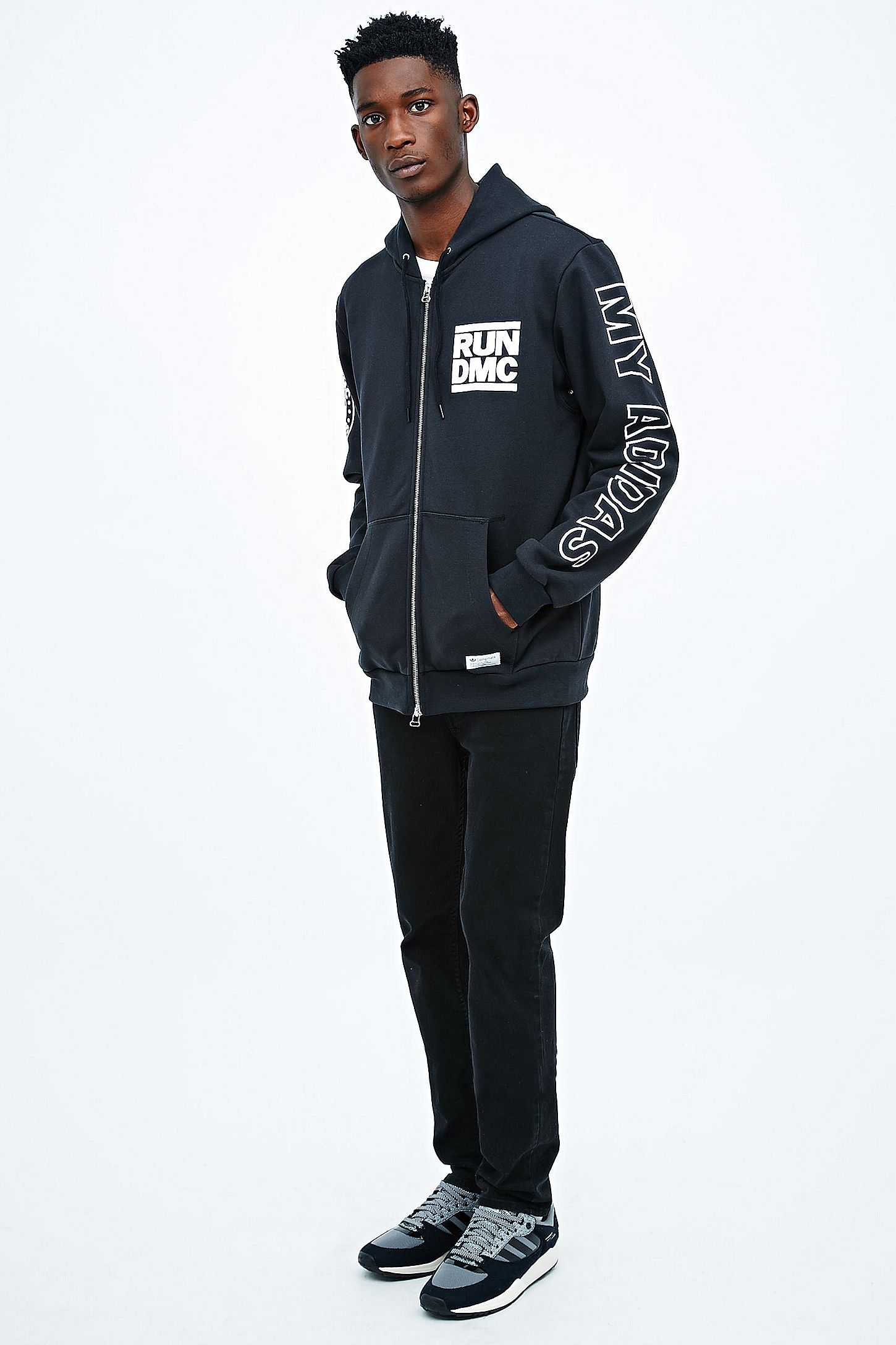 Urban Capuche Run Originals Adidas Sweat Dmc X Noir À Zippé zSnxPCw