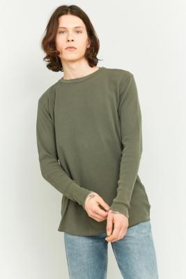 commodity-stock-long-sleeve-khaki-marl-waffle-t-shirt-mens-s