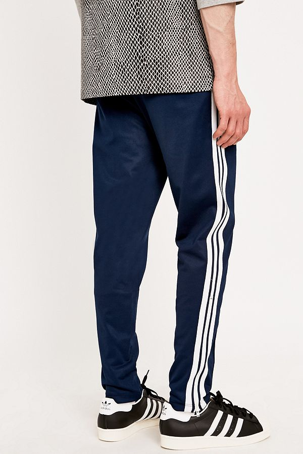 check out aa4e1 9ea4c Slide View 4 adidas Beckenbauer Track Bottoms in Navy