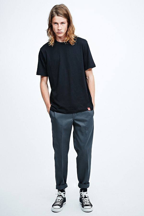 Dickies 873 Slim Straight Work Trousers in Charcoal  ecd85e0bb