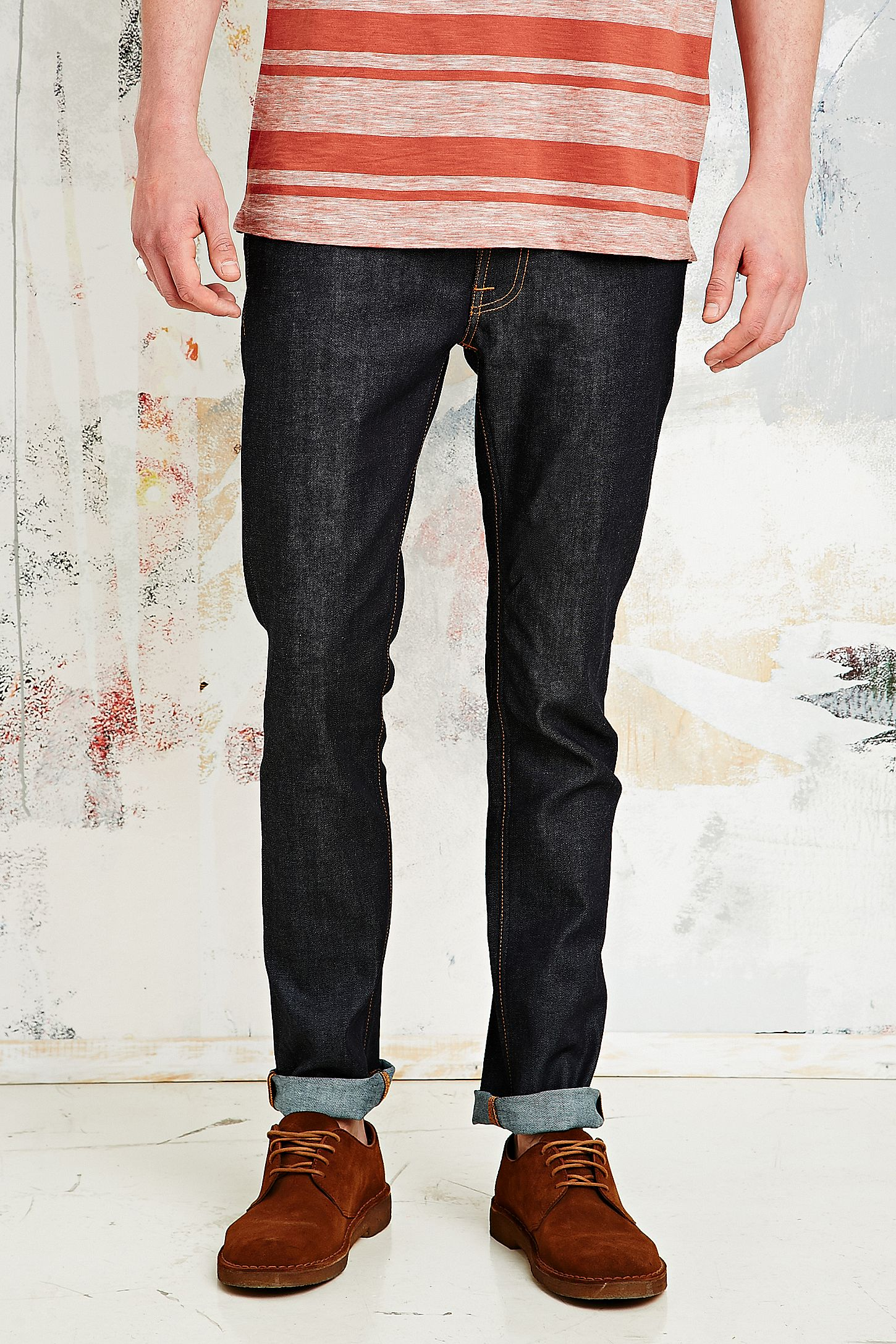 Nudie Jeans Tape Ted Jeans in 16 Drip Dry Indigo  180ffdfd4