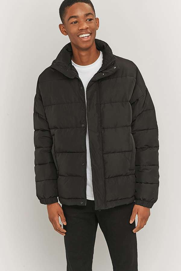 Shore Leave by Urban Outfitters Black Zip Puffer Jacket | Urban ...
