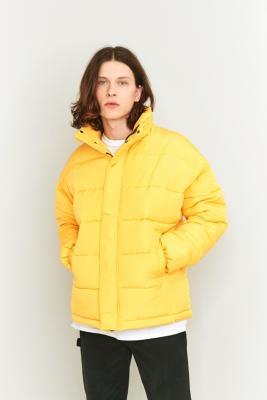 Shore Leave Yellow Zip Puffer Jacket Yellow