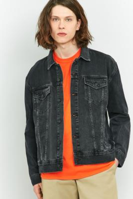 Loom Hooper Washed Black Denim Trucker Jacket – Mens L