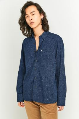 Levis Printed Blue Selvedge Work Shirt Blue
