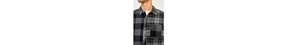 Thumbnail View 3: Levi's Pieced Grey Altered 1-Pocket Long-Sleeve Shirt