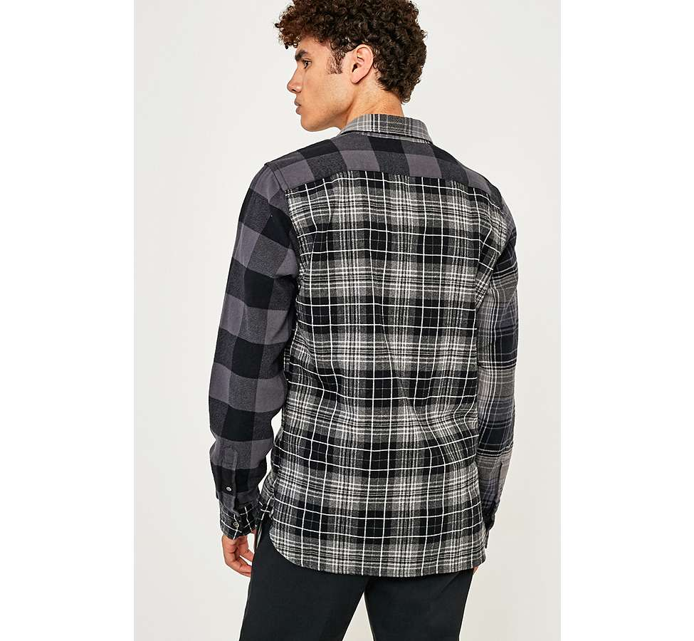 Slide View: 4: Levi's Pieced Grey Altered 1-Pocket Long-Sleeve Shirt