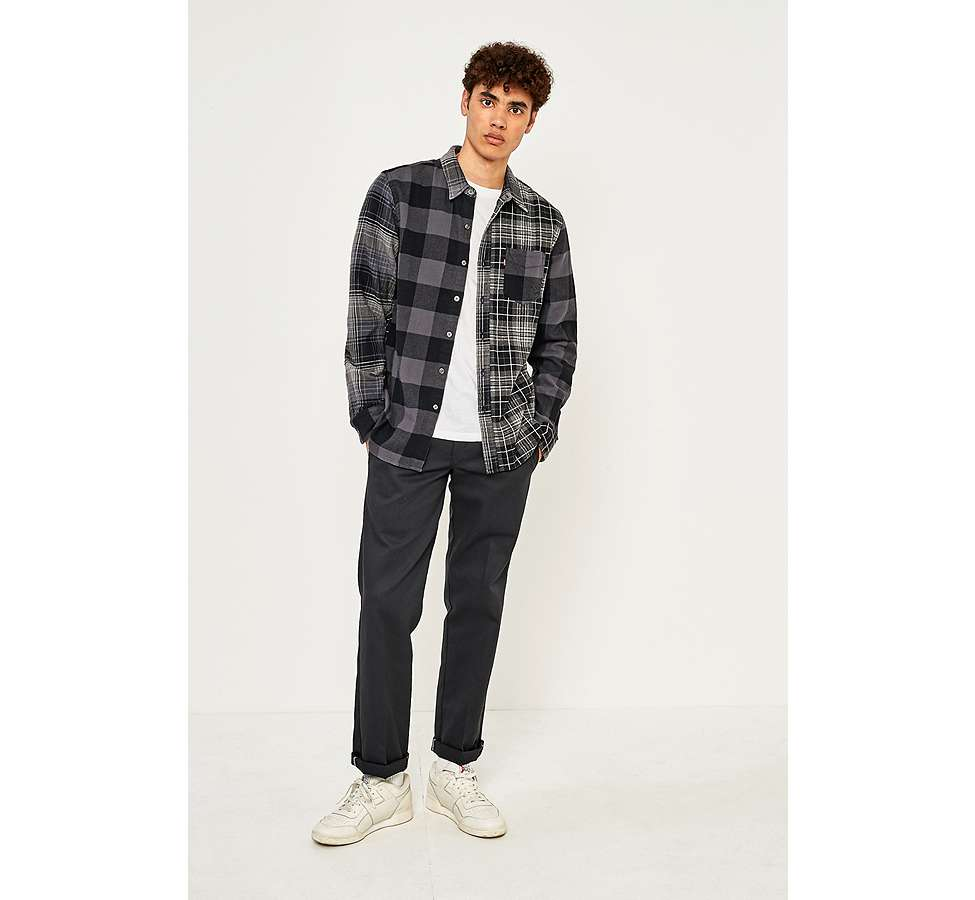 Slide View: 5: Levi's Pieced Grey Altered 1-Pocket Long-Sleeve Shirt