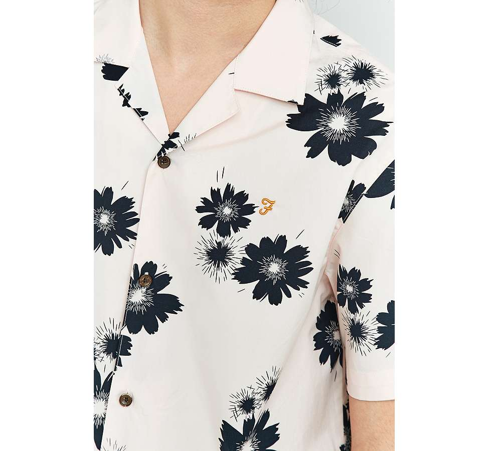 Slide View: 2: Farah Trudlow Seashell Flower Print Shirt