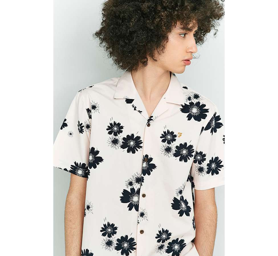 Slide View: 5: Farah Trudlow Seashell Flower Print Shirt
