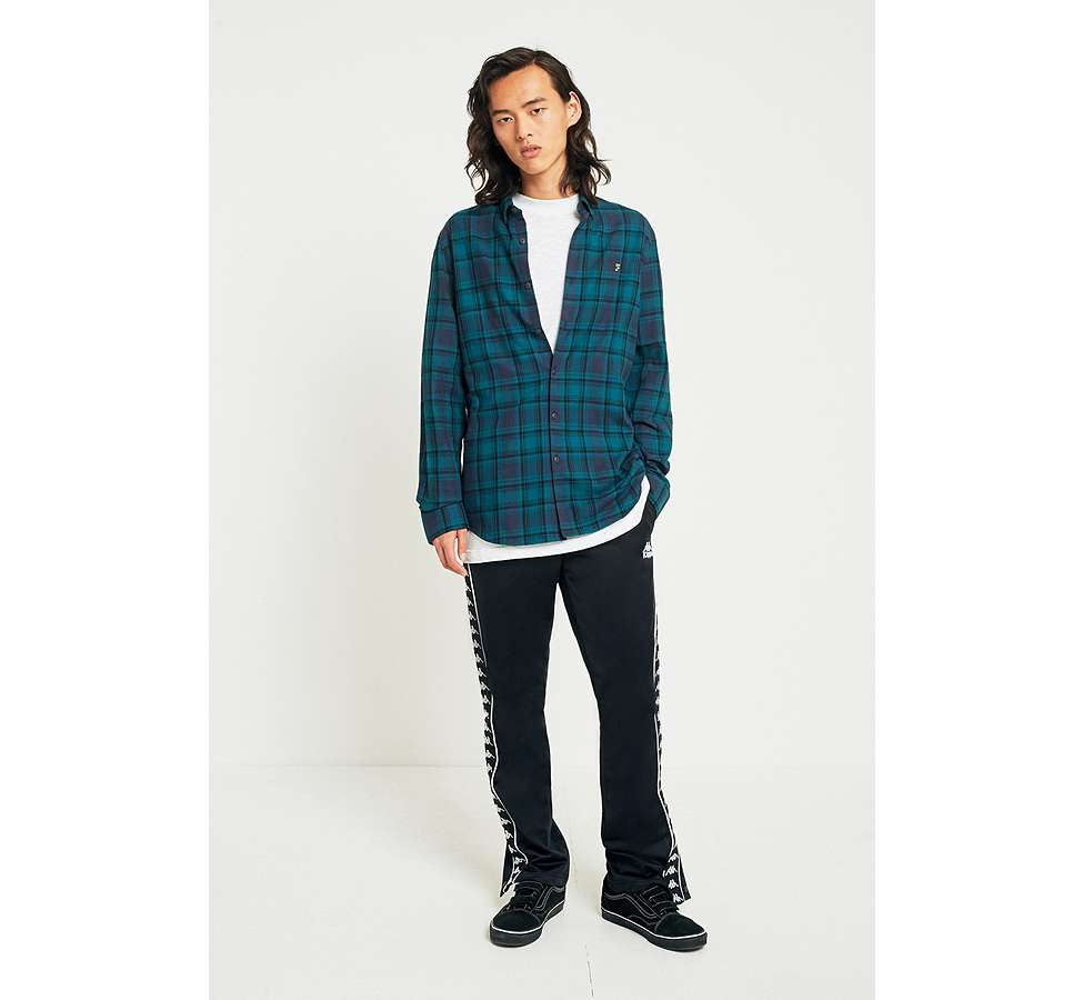 Slide View: 3: Farah Waithe True Navy Check Shirt