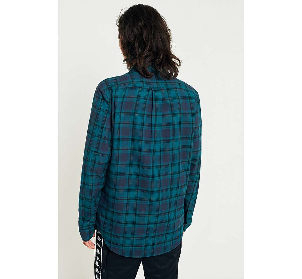 Slide View: 5: Farah Waithe True Navy Check Shirt
