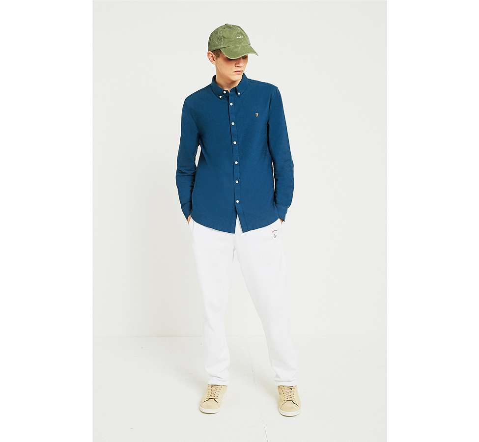 Slide View: 2: Farah Brewer Atlantic Blue Long-Sleeve Shirt