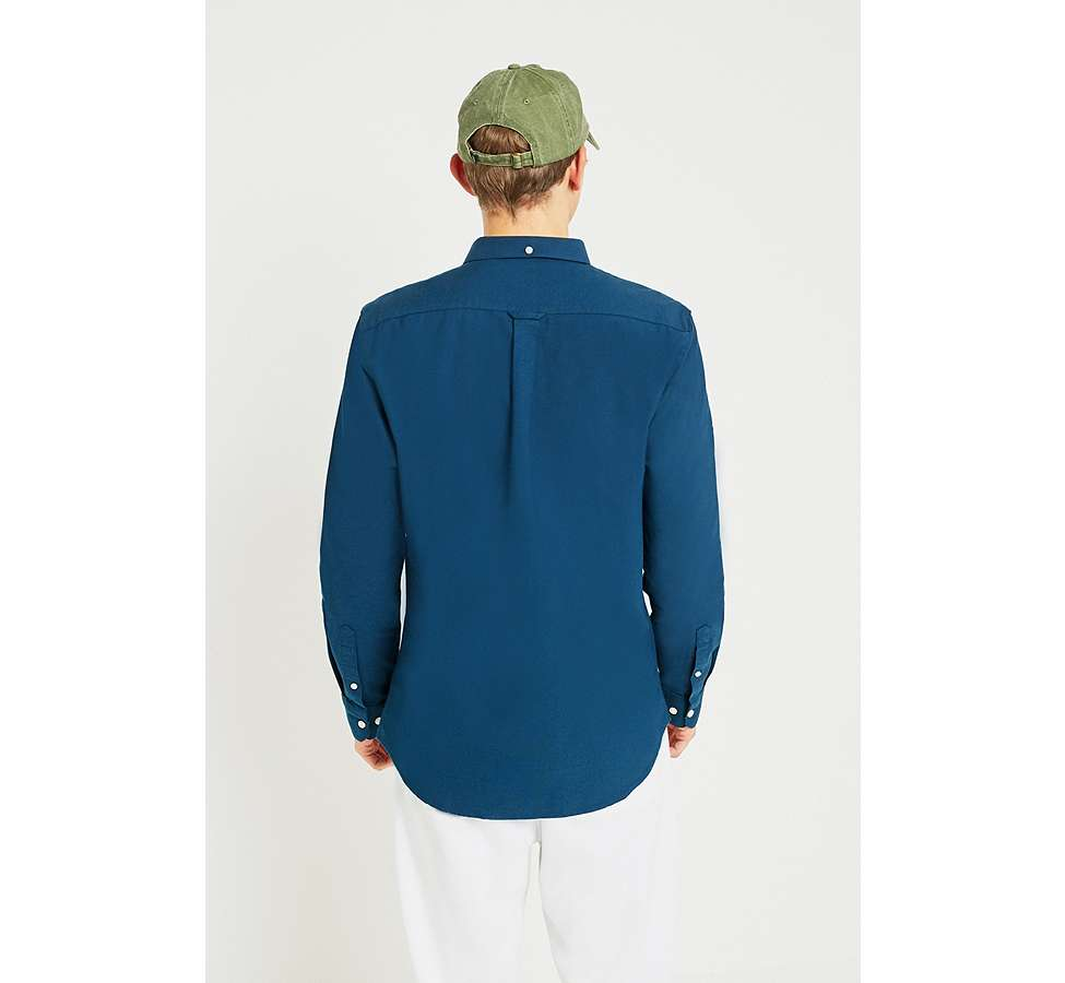 Slide View: 5: Farah Brewer Atlantic Blue Long-Sleeve Shirt
