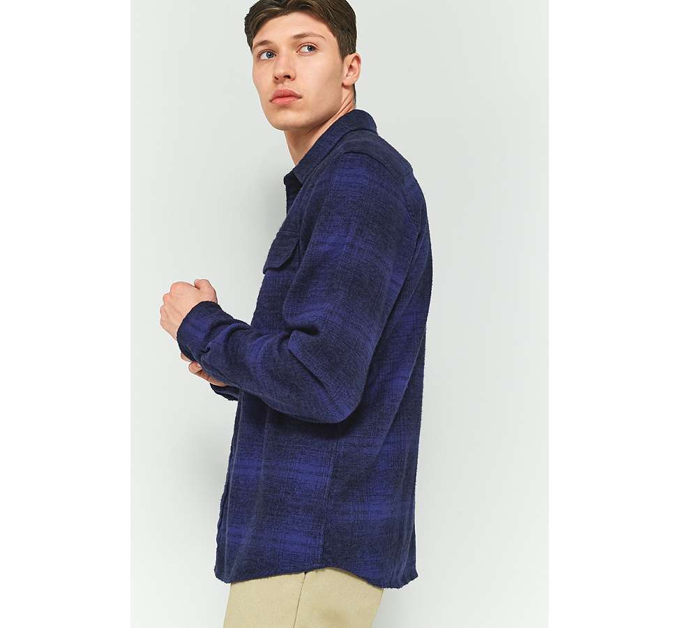 Slide View: 3: Dickies Ivyland Blue Check Long-Sleeve Shirt