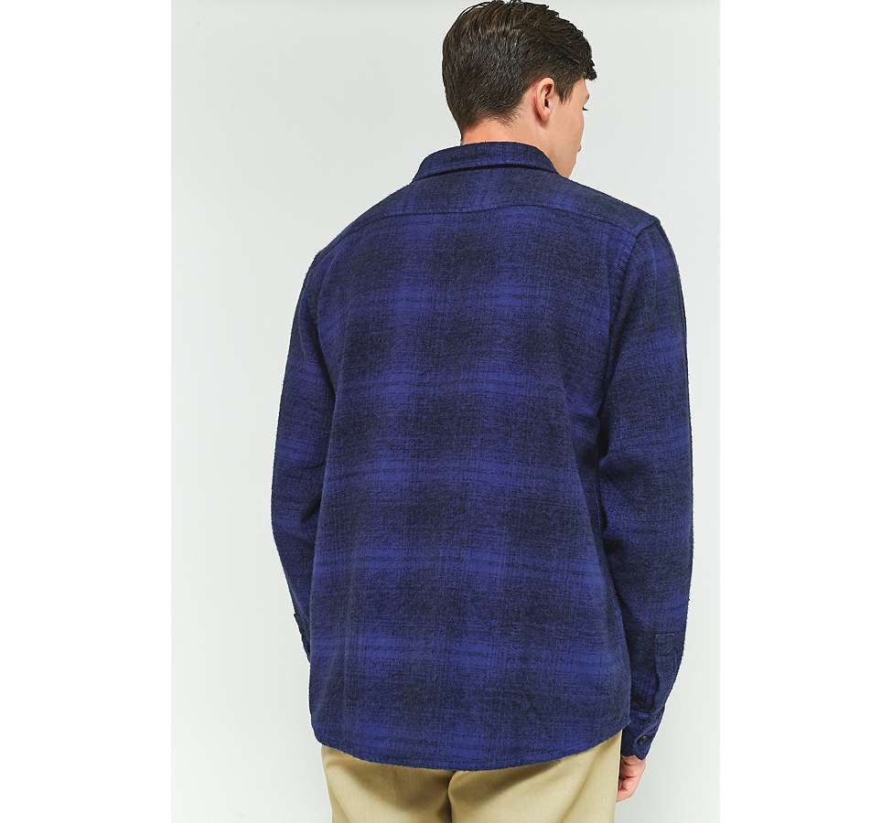 Slide View: 4: Dickies Ivyland Blue Check Long-Sleeve Shirt