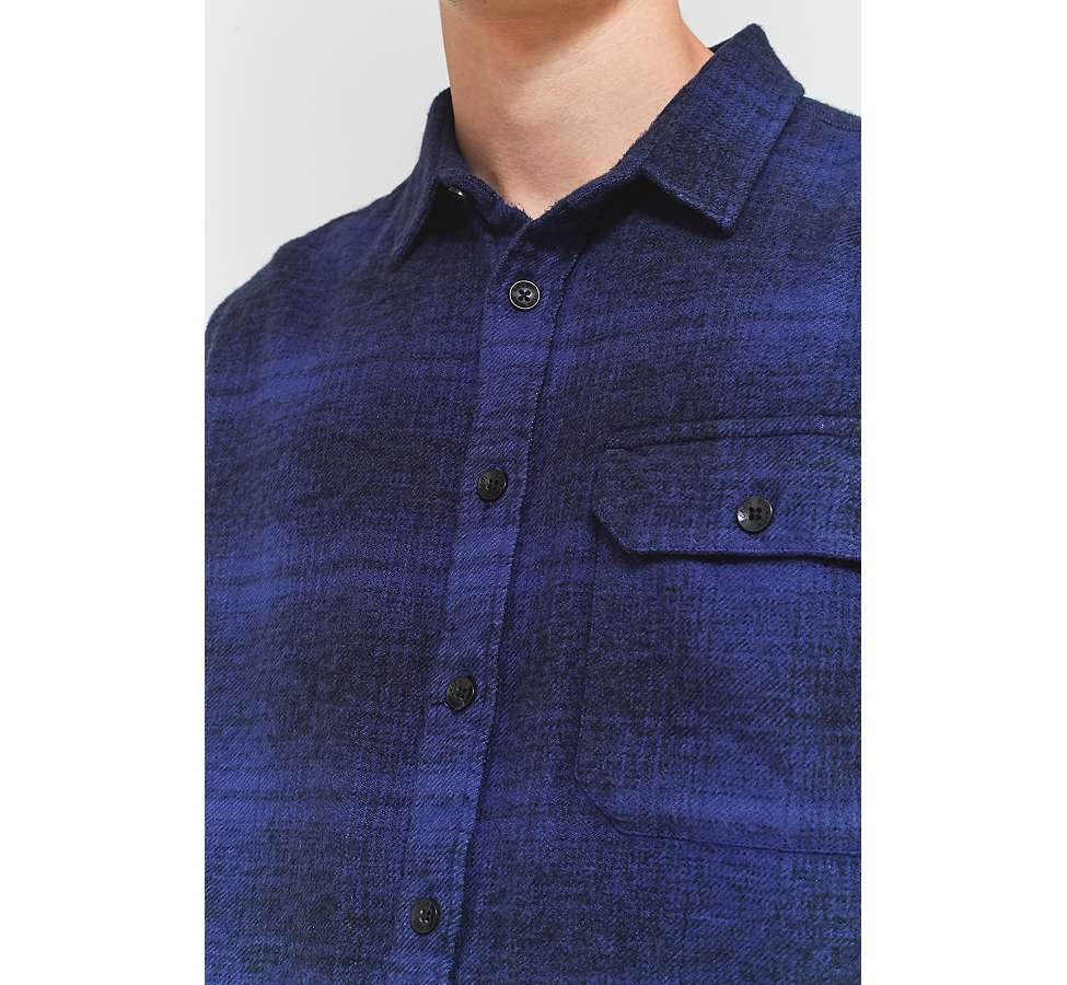 Slide View: 5: Dickies Ivyland Blue Check Long-Sleeve Shirt