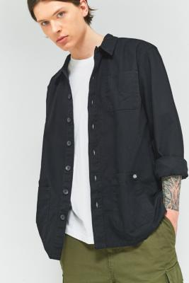 Dickies Kempton Black 3-Pocket Long-Sleeve Shirt, BLACK