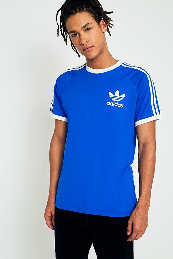 adidas california t shirt blau