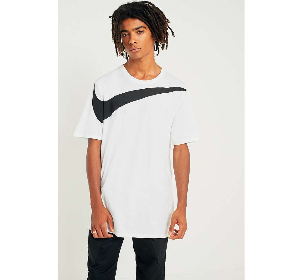 Slide View: 1: Nike Oversize Swoosh White T-shirt