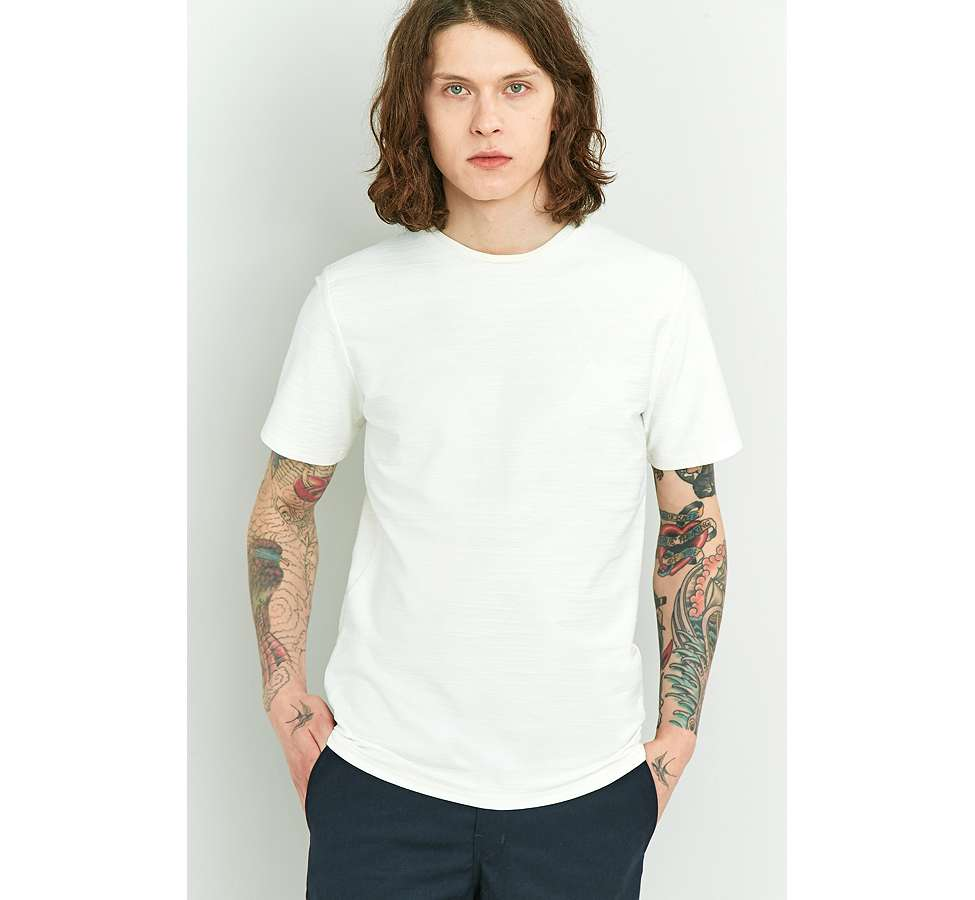 Slide View: 1: Native Youth Bembridge Off-White Slub T-shirt