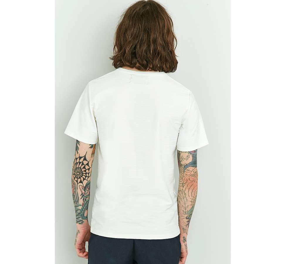 Slide View: 3: Native Youth Bembridge Off-White Slub T-shirt