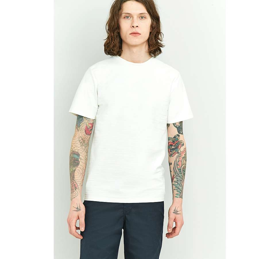 Slide View: 5: Native Youth Bembridge Off-White Slub T-shirt